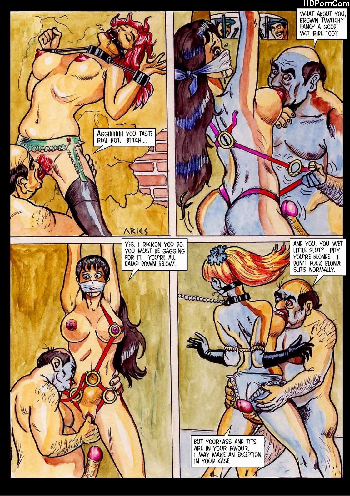 Bdsm 3D Comic Torture Porn Drawing Palace fansadox 001 - aries - torture brothel sexy comics - cartoon